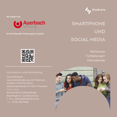 Flyer Smartphone und Social Media